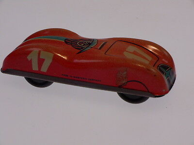 "GSPKW NEW PENNY TOYS "" RACE CAR  NO. 17"", 7 cm, MADE IN WESTERN GERMANY,  !"