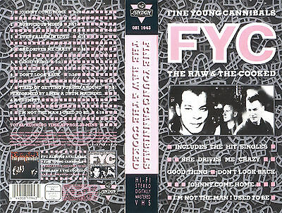 FYC Fine Young Canniballs - The Raw & The Cooked / VHS Videoclips