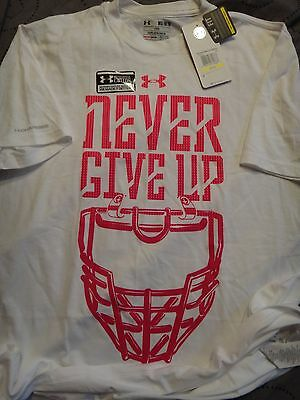 Under Armour Power In Pink Breast Cancer Loose Fit Shirt Xl L M Nwt $$$$