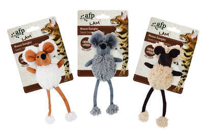 All for paws Cat Toy Lamb Mouse Dangler You choose Colour -  FREE P&P