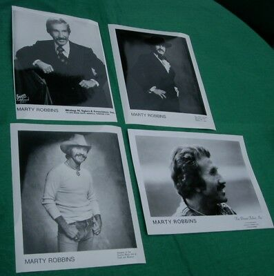 Lot 4 Vintage Country Music Star Souvenir Photos Marty Robbins.