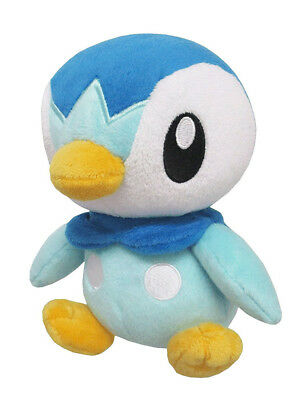 "1x New Sanei Pokemon Sun & Moon All Star (PP89) Piplup 6"" Stuffed Plush Doll"