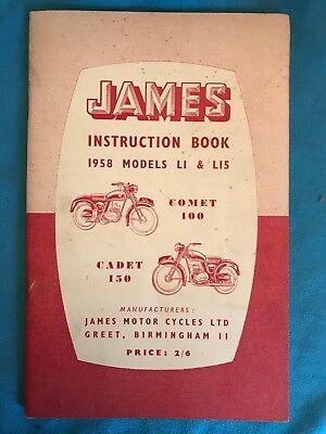 James Instruction Book 1958 Models