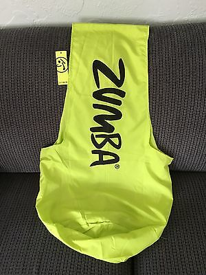 NWT ZUMBA FITNESS Satchel Tote Gym Sling Bag Zumba Lime Green Punch NEW
