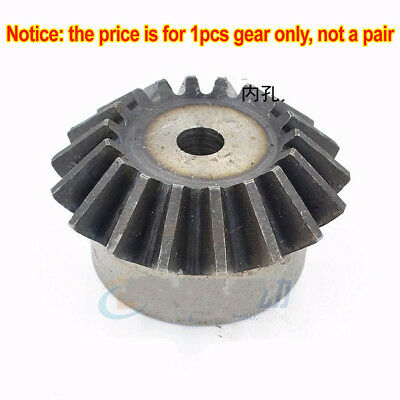 1Pcs 2M25T Motor Bevel Gear 2.0 Mod 25T 1:1 90° Pairing Metal Bevel Gear