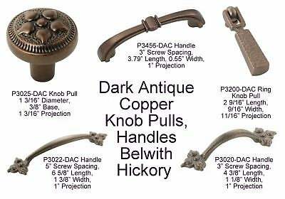 Dark Antique Copper Cabinet Knob Pulls and Handle Pulls Belwith Keeler Hickory