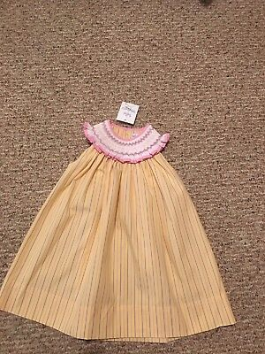 New Infant Girls Boutique Smocked Dress From Bebe Mignon Sz 12 Mos