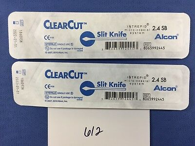 Alcon 8065992445, lot of 2, Clear Cut Slit Knife Intrepid System 2.4 SB (2022)