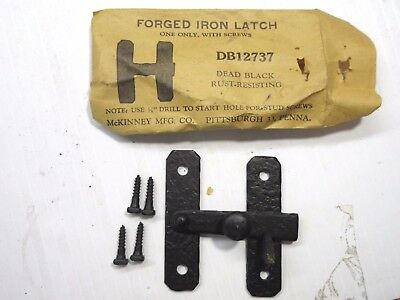 Qty 5 Vintage NOS McKinney Forged Iron Latch DB12737 Dead Black Rust Resisting