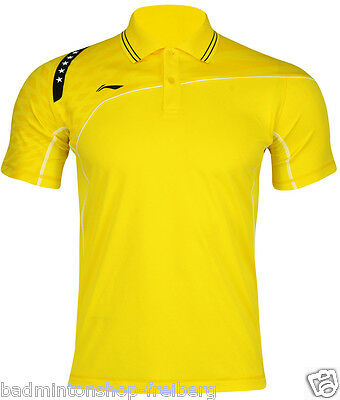 Li-Ning Polo Men Team 14 Yellow Herren