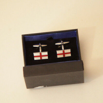St Georges Cross Cufflinks - Gift Boxed - English England Flag Cuff Links