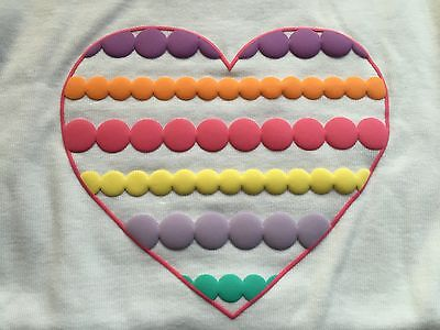 Gymboree Hearts Puffy Dots Tee Top T-Shirt size 2, 2T NWT White Girls ruffle