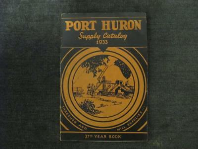 Port Huron Supply Catalog 1933 Thresher and Mill Supplies 48 pps w/Illustrations