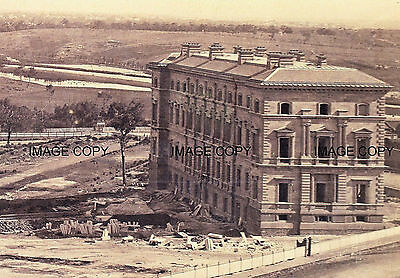 Treasury Building S.E to MCG c1860s, Melbourne Australia