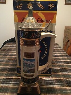 Budweiser Stein Salt Lake 2002 XIX. Olympic Winter Games Anheuser Bush unique