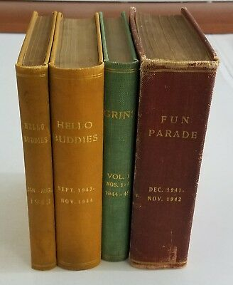BOUND COVER 1940s GOLDEN AGE WAR FUNNIES COMIC BOOKS AND DIGESTS LOT