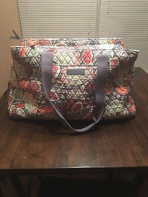 New Vera Bradley Triple Compartment Travel Bag in Nomadic Floral