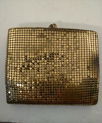 Womens Vintage Gold Mesh Wallet Bifold Coin Purse by Duramesh USA