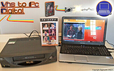 VHS Video Player / Recorder Kit ~ Convert VHS To PC Digital DVD + VCR PLAYER