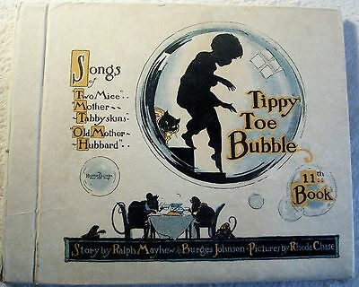 "rarest Bubble Book ""TIPPY TOE BUBBLE"" incl. 3 record 14cm for Toyphonographs"