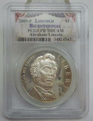 2009 P Lincoln Bicentennial Silver Commemorative Dollar PCGS PR70DCAM