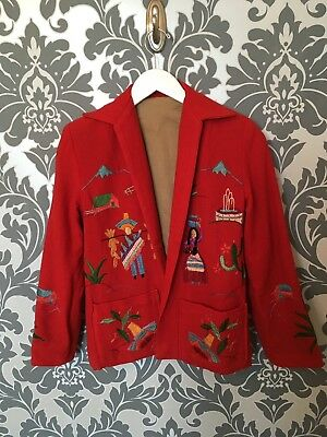 1940s Mexican Wool Tourist Jacket