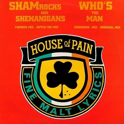"""House Of Pain - Shamrocks And Shenanigans / Who's The Man  (12"""", Single)  Ex Con"""