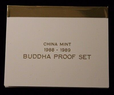 1988- 1989 China Mint Buddha Proof Set    Four 1/4 OZ coins .999