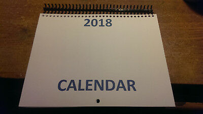 """Monthly Wall Calendar Kit 2018, Make Your Own Calendar , 12"""" x 17"""" When Opened"""