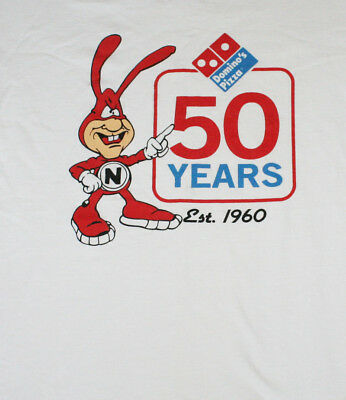 vintage DOMINOS PIZZA NOID 50 years ANNIVERSARY T Shirt