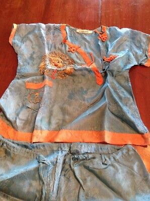 Vintage Childs Japanese Outfit And Shoes