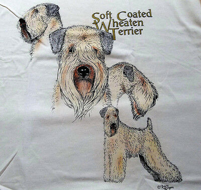 """Soft Coated Wheaten Terrier T-shirt  """" Natural """" Small ( 34 - 36 )"""