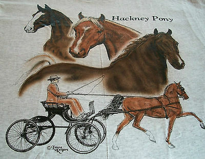"Hackney Pony T-shirt  "" White "" Large ( 42 ~ 44 )"