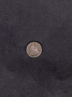 Old 1857 Seated Liberty Half Dime Circulated Pretty Nice Condition for the Age