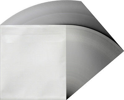 (500) CDIVSB Adhesive Backed CD Plastic Booklet Disc Display Sleeves Inserts DVD