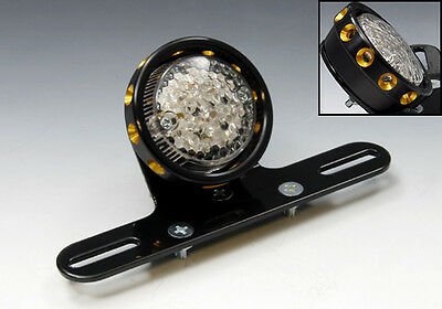 EASYRIDERS LED Drilled Tail Light Black/Gold Cover