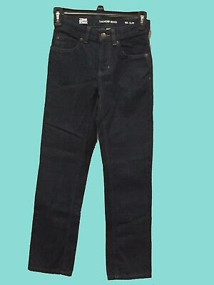 Boys Lands End Jeans Iron Knee Size 10 Slim Dark Wash - New Without Tags