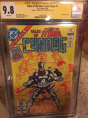 "Tales Of The New Teen Titans #1 CGC SS 9.8 Signed By Ray Fisher ""Cyborg"""