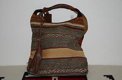 cb7755a4d4 RALPH LAUREN INDIAN Serape   Leather Tote Hobo Bag -  499.99