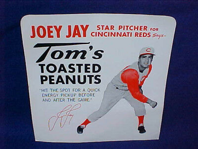 Tom's Peanut 5 Cent Display Sign, Joey Jay Cincinnati Red, Lance Jar Store