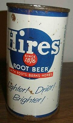 Rare Anchorage Alaska Hires Root Beer Roots Barks Herbs Early Can Flat Top Nice