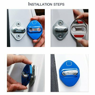 4Pcs Stainless Steel Car Door Lock Ring Protective Cover For Honda OW