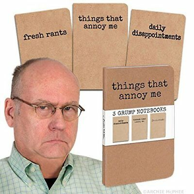 Grump Notebooks, Things That Annoy Me book set of 3 Funny Gag Gift NEW