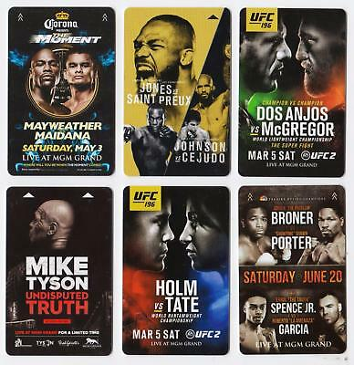 MGM GRAND casino*MGM Ufc/Boxing Fight Cards set #3 *Las Vegas hotel~6~ key cards
