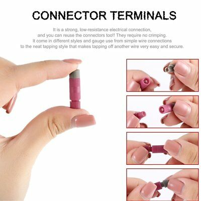 10pcs Posi-tap Connectors 20-22 Gauge Wire Electrical Terminal Connectors Red`