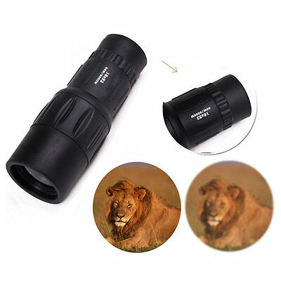 16x 52 Dual Focus Zoom Optic Lens Armoring Monocular Telescope Outdoor Travel TR