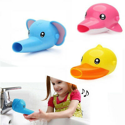 Kid Hand Washing in Bathroom Sink Faucet Extender For Helps Children Toddler Hot