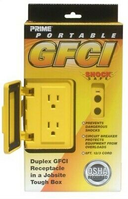 Box Pwr Gfci 2out 12/3x6ft Yel, PartNo GF200806, by Prime Wire & Cable Inc, Sing