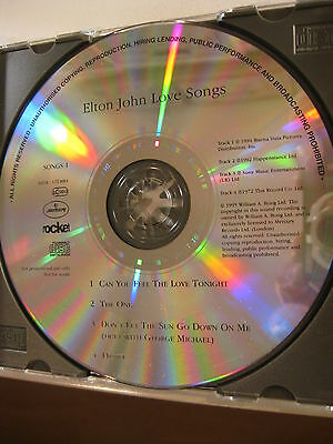 Elton John rare WITHDRAWN promo CD 1995 Love Songs sampler MIS-PRINT