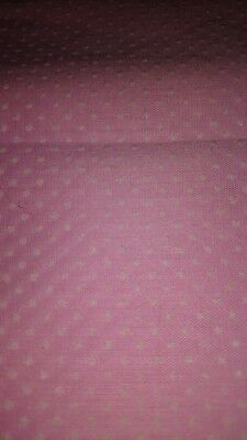 Vintage Swiss Dot Fabric Pink And White Sewing Crafting Material Item #1027